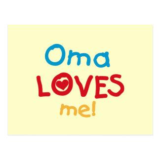 Carte Postale Oma m'aime T-shirts et cadeaux