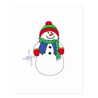 Carte Postale Oma Snowma