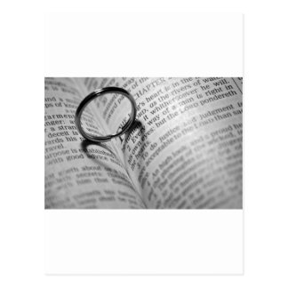Carte Postale Ombre de coeur de bible