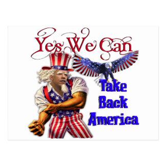 Carte Postale Oncle Obama, oui nous pouvons rapporter l'Amérique