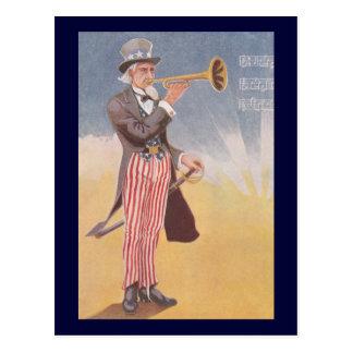 Carte Postale Oncle Sam jouant la bugle
