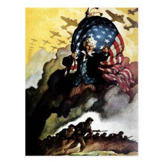 Carte Postale Oncle Sam - N.C. Wyeth Postcard