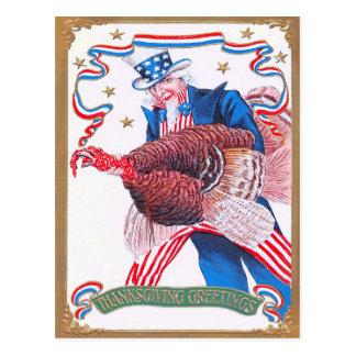 Carte Postale Oncle Sam patriotique de la Turquie de