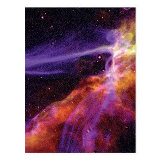 Carte Postale Onde de choc cosmique colorée de supernova de
