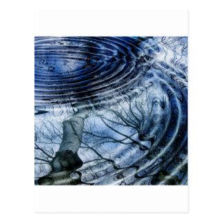 Carte Postale Ondulations dans le bleu