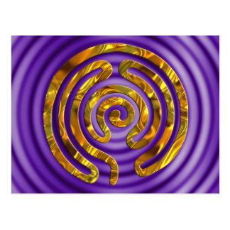 Carte Postale Ondulations de violette de l'OR | de labyrinthe