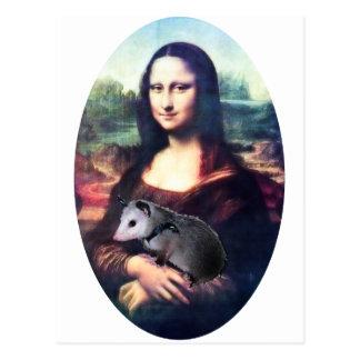 Carte Postale Opossum de Mona Lisa