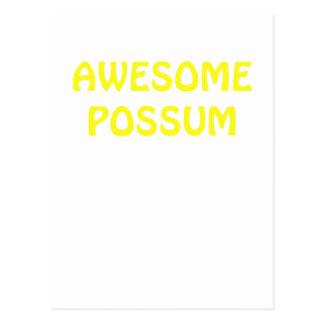 Carte Postale Opossum impressionnant