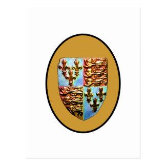 Carte Postale Or BG de crête d'église de l'Angleterre Cantorbéry