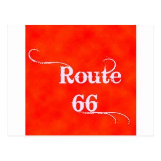 Carte Postale Orange de l'itinéraire 66