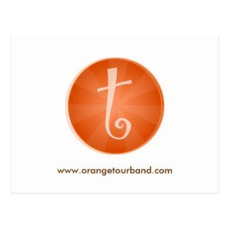 Carte postale orange de visite