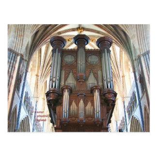Carte Postale Organe de cathédrale d'Exeter, Devon, Angleterre,