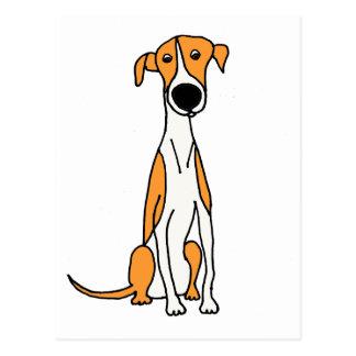 Carte Postale Original mignon de bande dessinée de chien de