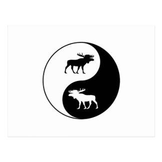 Carte Postale Orignaux de Yin Yang