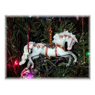 Carte Postale Ornement de cheval de carrousel