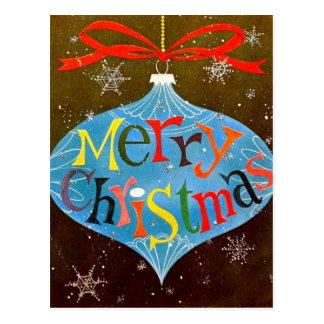 Carte Postale Ornement de Joyeux Noël