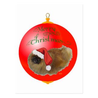 Carte Postale Ornement de Noël de Pekingese