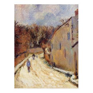 Carte Postale Osny, rue de Pontoise, hiver par Paul Gauguin
