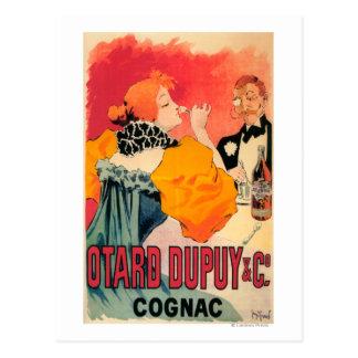Carte Postale Otard-Dupuy et affiche promotionnelle de cognac de