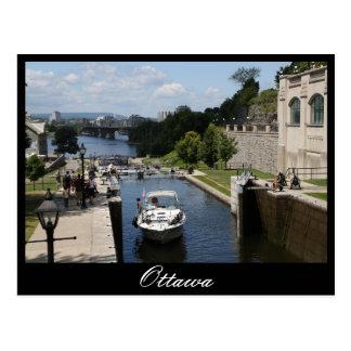 Carte Postale Ottawa, canal de Rideau, Laurier
