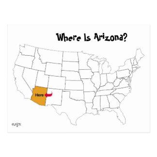 Carte Postale Où est l'Arizona ?