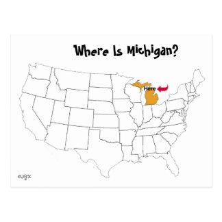 Carte Postale Où est le Michigan ?
