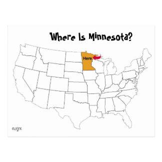 Carte Postale Où est le Minnesota ?