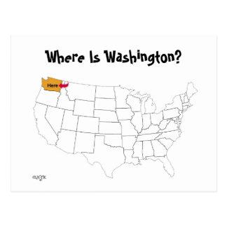 Carte Postale Où est Washington ?