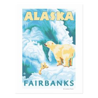 Carte Postale Ours blancs et CUB - Fairbanks, Alaska