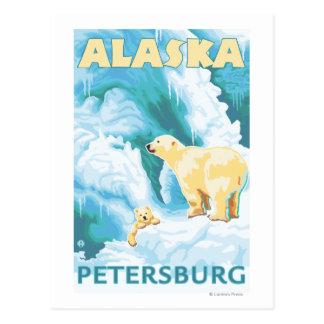Carte Postale Ours blancs et CUB - Pétersbourg, Alaska