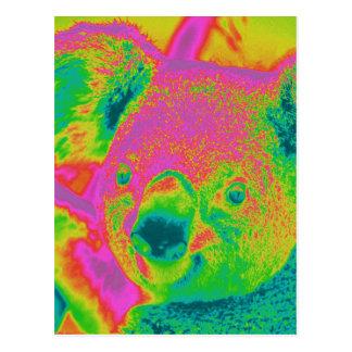 Carte Postale ours de koala fluorescents