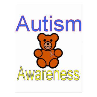 Carte Postale ours de nounours de sensibilisation sur l'autisme