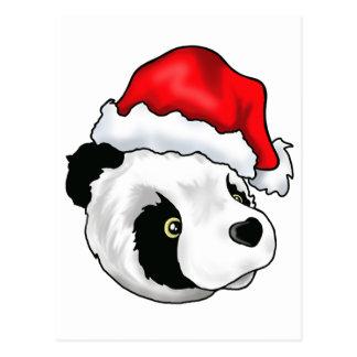 Carte Postale Ours idiot dans un casquette de Noël