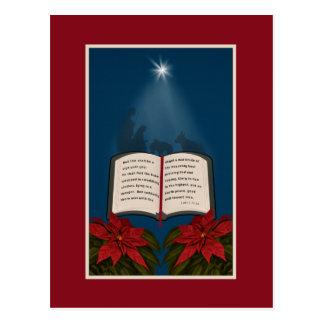 Carte Postale Ouvrez le message de Noël de bible