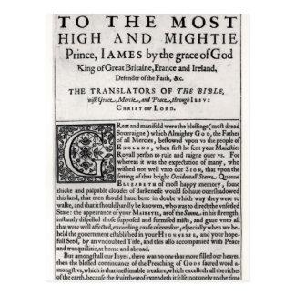 Carte Postale Page de dévouement dans 'le Bible saint