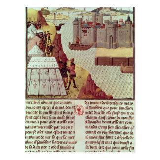 Carte Postale Page de 'Histoire du Grand Alexandre'