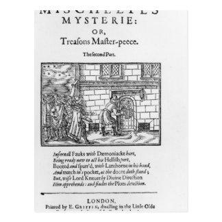 Carte Postale Page titre à 'Mischeefes Mysterie ou trahisons