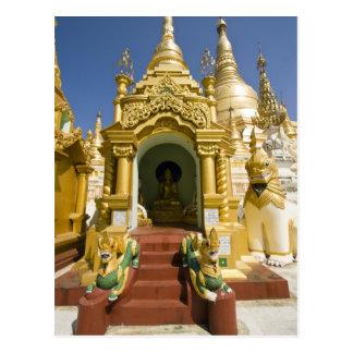 Carte Postale Pagoda de Shwedagon (Paya), grand site de temple