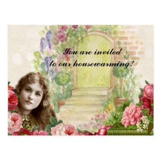 Carte postale Painterly romantique victorienne de