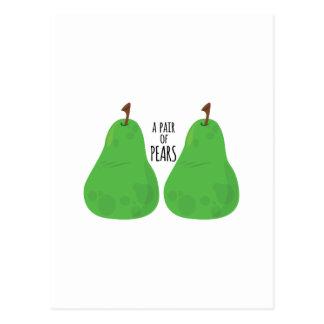 Carte Postale Paires de poires