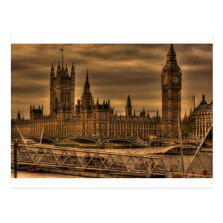Carte Postale Palais et Big Ben de Londres Westminster