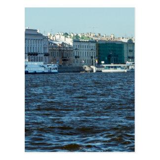 Carte Postale palais sur la rivière St Petersburg Russie de neva