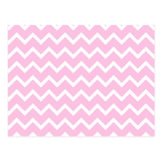 Carte Postale Pâlissez - le modèle de zigzag rose et blanc
