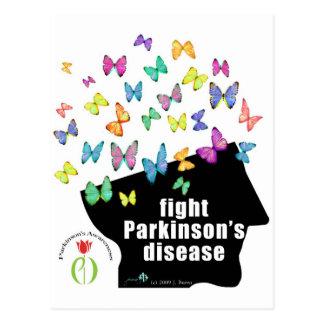 Carte Postale palladium de combat - conscience de Parkinson de