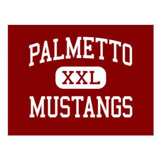 Carte Postale Palmetto - mustangs - haut - Williamston