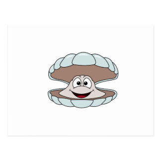 Carte Postale Palourde de mollusques et crustacés de feston de