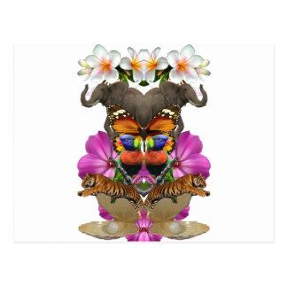 Carte Postale Palourde de perle de paradis d'animal sauvage de
