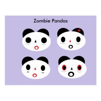 Carte Postale Pandas de zombi