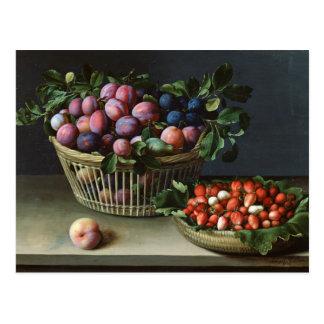 Carte Postale Panier des prunes et panier des fraises, 1632