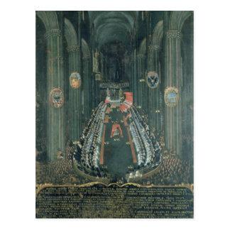 Carte Postale Panneau d'organe, la séance du Conseil